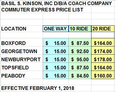Commuter Pricing Feb 1 2018Rev2